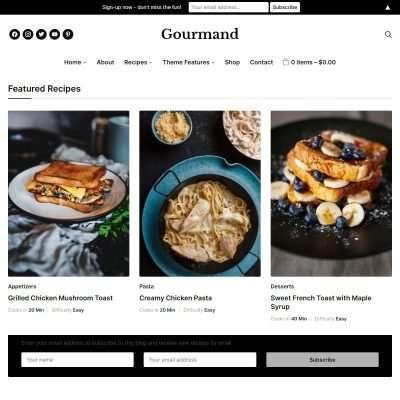Gourmand WordPress Theme