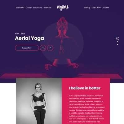 Vigour WordPress Theme