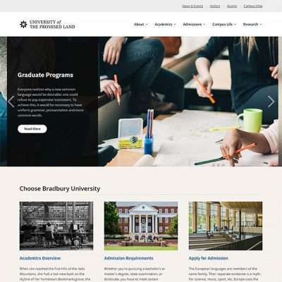 Bradbury Lite WordPress Theme