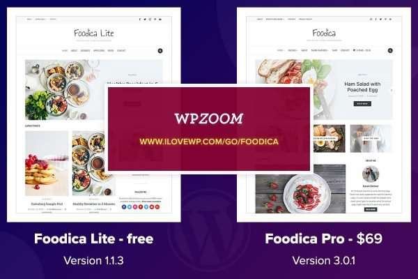 Need a WordPress theme for a Food Recipes website? Foodica Lite vs Foodica Pro