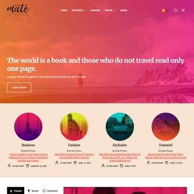 Mate WordPress Theme