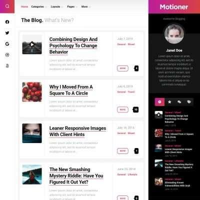 Motioner WordPress Theme