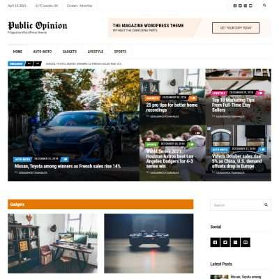 Public Opinion WordPress Theme